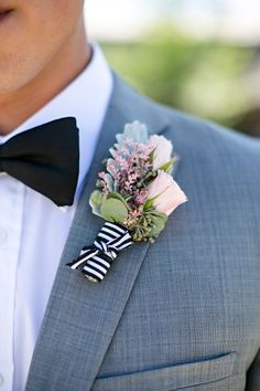 Preppy boutonniere: http://www.stylemepretty.com/canada-weddings/manitoba/winnipeg/2014/11/20/vintage-glam-winnipeg-wedding/ | Photography: Moore Photography - http://moorephotography.ca/