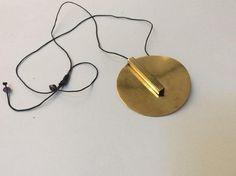 Brass handmade pendant necklace , geometric jewel , unique gift  www.etsy.com/yours/shops/atheniansquad   #SimpleNecklace #UniqueGifts #GiftForWife #GiftForHer #DesignerNecklace #GiftForWomen #FashionNecklace #UniqueJewelry #WomenNecklace #PendantNecklace#handmadewithlove #style #buyetsy #jewels Brass Jewelry, Modern Jewelry, Greek Design, Circle Pendant Necklace, Leather Cord, Handmade Bracelets, Geometric Shapes, Necklace Lengths, Unique Gifts
