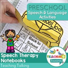 Preschool Notebooks for Speech and Language are easy to cut, low prep templates to create AMAZING interactive notebook pages with minimal prep and fuss! Teaching Vocabulary, Teaching Grammar, Teaching Kindergarten, Preschool, Teaching Ideas, Teaching Resources, Social Skills Activities, Speech Therapy Activities, Language Activities