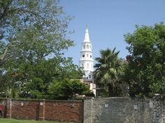 The steeple of St. Michael's Episcopal Church |  Charleston, SC