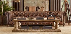 Restoration Hardware trunks and tables
