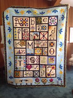 A to Z for Ewe and Me.  Designed by Janet Stone for The Quilt Show.com.  BOM 2014.  My version created 2014-2015.