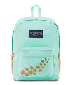 JanSport High Stakes School Laptop Backpack Gold Foiled Love for sale online Mochila Jansport, Jansport Backpack, Laptop Backpack, Backpack Bags, Duffle Bags, Laptop Bags, Messenger Bags, Pretty Backpacks, Teen
