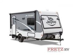 Jay Feather 7 travel trailer models are towable by most minivans, crossovers and SUVs—consult with your automobile manufacturer or owner's manual. Car Camping Essentials, Camping Hacks, Hybrid Travel Trailers, Jay Feather, Side Bed, Truck Camping, Rv For Sale, Fun Activities, Recreational Vehicles