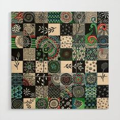 Black and white colored games Wood Wall Art