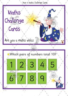 Teacher's Pet - Year 2 Maths Challenge Cards (pack 1) - Premium Printable Classroom Activities and Games - EYFS, KS1, KS2, independent, maths, problems, solving, shape, space, measure, calculation, number, system, activities Maths Games Ks1, Maths Eyfs, Classroom Activities, Primary Maths, Primary Classroom, Math Challenge, Challenge Cards, Maths Starters, Year 2 Maths