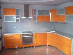 #diseño de #cocinas Cocinas naranjas #madrid