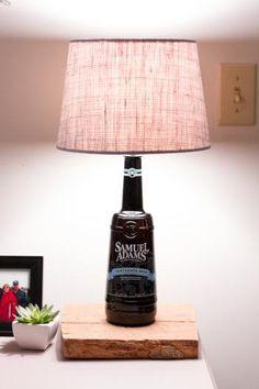 Lámparas hechas a partir de botellas