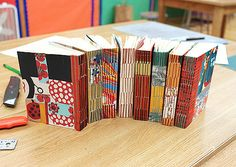 https://flic.kr/p/98hwuQ | Long stitch books made by my class | My Intermediate Bookbinding class last fall made beautiful long stitch books with cotton filler paper and a fun collage of paper from my studio on the covers.  Everyone did a great job! I'm teaching more classes this spring, check out my blog for more info.  Blog | Twitter | Pinterest | Instagram