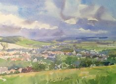 South Downs Lewes - Watercolour