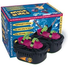 I could never jump as high as the kids on the box... despite the title, gravity still existed when wearing these shoes. i did like to put them on and pretend i had big feet though :)