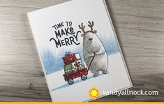 FUN with this release, as you can, uh, see! Here's a ton of cards I made from them – you'll only see the above bear bakery card being made in the video, bu… My First Halloween, Halloween Cards, Sandy Allnock, Coffee Cards, Interactive Cards, Christmas Characters, Card Making Tutorials, Christmas Tag, Christmas Ideas