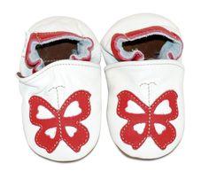 ekoTuptusie Czerwony motylek Soft Sole Shoes Red Butterfly https://fiorino.eu/