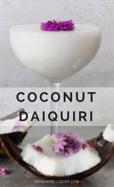 This cocktail is a  twist on the classic daiquiri with added coconut for a tropical flavor. This is the perfect daiquiri to make and drink with friends at a dinner party or happy hour. Make this twist today and get tropical!