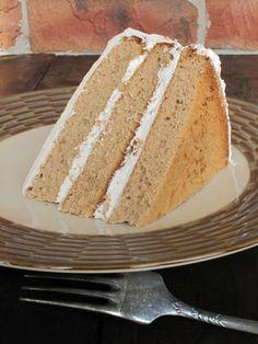 Earl Grey chiffon cake with maple meringue.