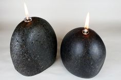 Basalt stone oil lamps @ www.lighttheeearth.com