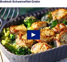 Brokkoli-Schweinefilet-Gratin