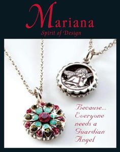 Mariana Jewelry swarovski crystals gem stones Israel Spirit of Design necklaces bracelets earrings