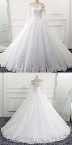 Wedding Dress Sleeves, Long Wedding Dresses, Long Sleeve Wedding, Princess Wedding Dresses, Bridal Dresses, Disney Inspired Wedding Dresses, Ball Gown Wedding, Winter Wedding Dress Ballgown, Queen Wedding Dress