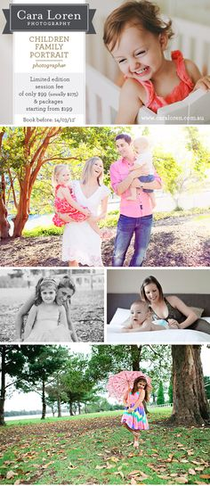 Cara Loren Photography – Precious Portraits Of Your Children & Family: Save $176 On Your Session Fee + Packages Starting At $199!
