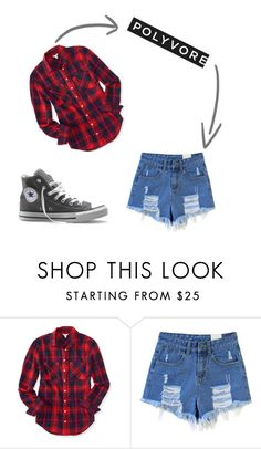 """Sin título #2"" by georgina2017 ❤ liked on Polyvore featuring Aéropostale and Converse"