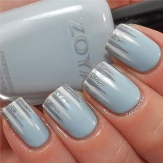 Chic Icicles - love this subtle nod to winter weather, especially how the silver pops against the ice blue.