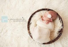Love this look!! Newborn Stretch Knit Baby Wrap - Photography Prop - In Stock and Ready to Ship on Etsy, $18.00