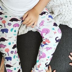 e615f65b9ec7 because girls like dinosaurs, too! dinosaur leggings for toddler girls by Smarty  Girl.