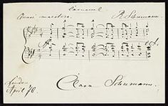 Schumann, Robert, 1810-1856. Carnaval (Album leaf) . Robert Schumann's Carnaval (album leaf) : manuscript in the hand of Clara Schumann, 1876 Apr.