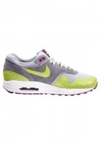 De Goedkoopste Nike Air Max 1 Essential Dames Hardloopschoenen Grijs Zilver Groen-Geel Paars Wit Uitverkoop