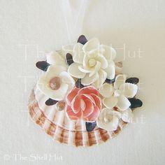 Seashell Ornaments | Seashell Holiday Ornament Scallop Real Shell Flowers | eBay