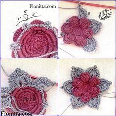 Delicadezas en crochet Gabriela: Flores de ganchillo                                                                                                                                                     Más