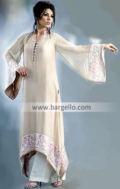 elegant. simple. i'd nix the bell sleeve though. ever so impractical.  #desi-clothes, #pakistani-wedding, #shalwar-kameeze, #shaadi