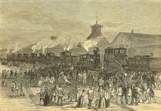 The Great Railroad Strike began in Martinsburg, West Virginia when the Baltimore & Ohio railroad company reduced wages for the second time that year. The strike spread to other states, and in response, state militias mobilized, resulting in several bloody clashes. At least 10 workers died in Cumberland, Maryland, July 14, 1877.