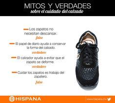 Mitos y realidades sobre el calzado yque te ayudarán a cuidar tu calzado Hispana.