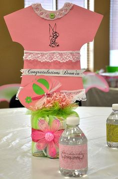 Pink and green Tinkerbell baby shower #pinkgreen #babyshower