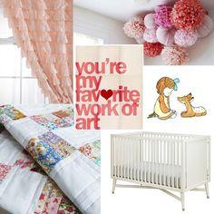 baby girl nursery inspiration board.