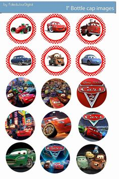 Folie du Jour Bottle Cap Images: Cars free digital bottle cap images 1""