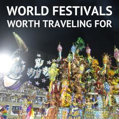 Why not see if there's an amazing festival happening in your year abroad destination?
