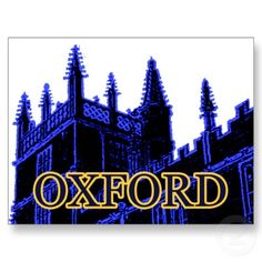 Shop Oxford England 1986 Building Spirals Blue Postcard created by The_MUSEUM. Beautiful Places In The World, Great Places, Oxford England, Travel Log, Spirals, Postcard Size, Falling In Love, Smudging, Paper Texture