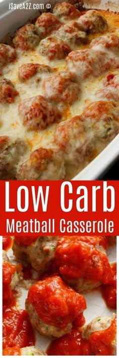 Low Carb Meatball Casserole Enjoy some of your favorite Italian flavors with significantly fewer carbs! The post Low Carb Meatball Casserole appeared first on Rezepte. Beef Recipes, Low Carb Recipes, Healthy Recipes, Potato Recipes, Lunch Recipes, Chicken Recipes, Recipies, Dog Recipes, Meatball Recipes
