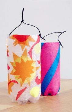 basteln-kindern-herbst-laterne-laternenumzug-flasche-krepppapier - My best diy and crafts list Crafts For Teens, Crafts To Sell, Diy For Kids, Crafts For Kids, Arts And Crafts, Children Crafts, Sell Diy, Kids Lantern, Lantern Crafts
