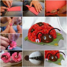 Ladybug is very common theme for lots of different DIY projects. They are fun not only for adults, but also for kids. Here are 40 adorable DIY ladybug projects and tutorials I collect for your reference. Pinterest Facebook Google+ reddit StumbleUpon Tumblr  1. DIY Golf Ball Ladybug Craft Do you want to decorate your