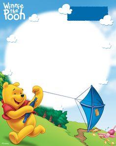 winnie the poo Cute Winnie The Pooh, Winne The Pooh, Birthday Frames, Birthday Cards, Whinnie The Pooh Drawings, Winnie Phoo, Disney Frames, Photo Frame Design, Baby Boy 1st Birthday