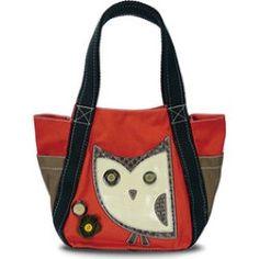 Chala - Hoohoo Owl Carryall Tote (Women's) - Orange/Brown