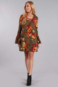 1ba9e4c71dd2 Blu Pepper Woven Lace Up Dress with Floral Print BA6050 Preppy Dresses