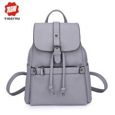 2017 Tigernu Fashion Women Mochilas Feminina Backpack School Bags For Teenage Girls Women's Casual summer Leather Backpack