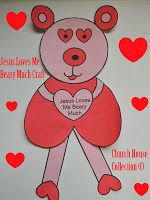 Jesus Loves Me Beary Much Craft