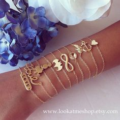 jewelry and bracelet jewelry fashion jewelry...the little heart on the thin chain...but in white gold or silver