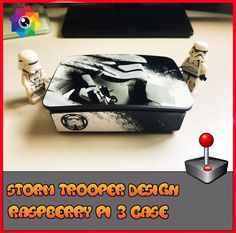 Raspberry Pi 3 case Retro style gaming Storm Trooper (Use with Retropie or Kodi)